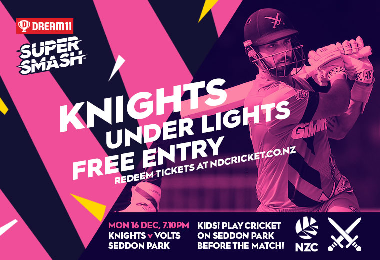 Super Smash 2019-20: Knights v Otago Volts