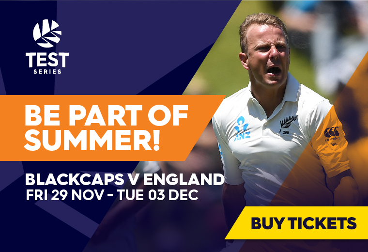BLACKCAPS v England, TEST