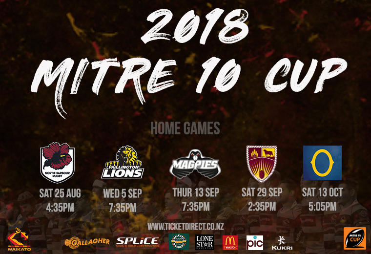 Mitre 10 Cup 2018: Waikato v North Harbour